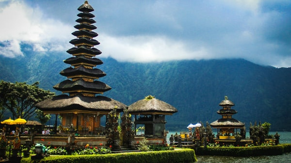 Templo Pura Ulun Danu Bratan en Bali, Indonesia