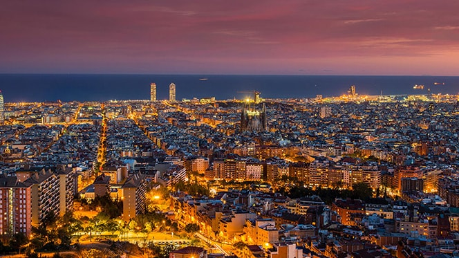 Barcelona Sunset View