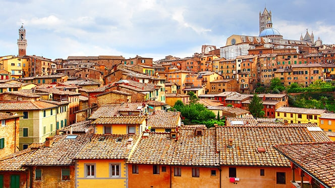 Sienna, Italy, hill country