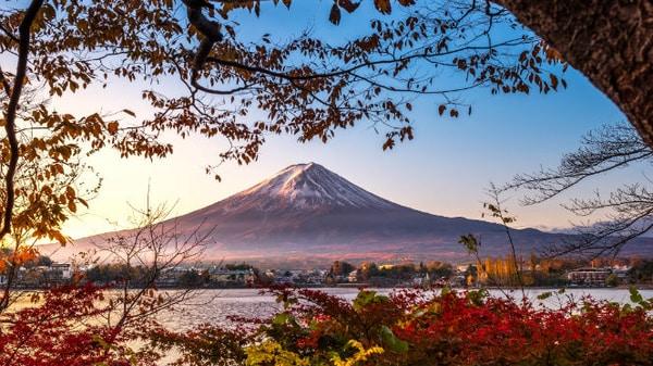Monte Fuji en otoño
