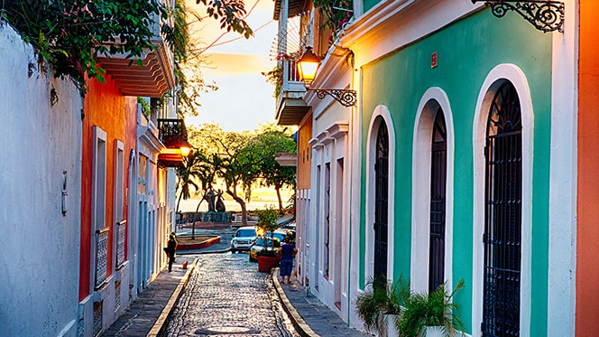 Old San Juan's cobbled streets
