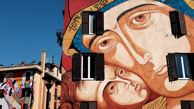 Quadraro Neighborhood Street Art in Rome