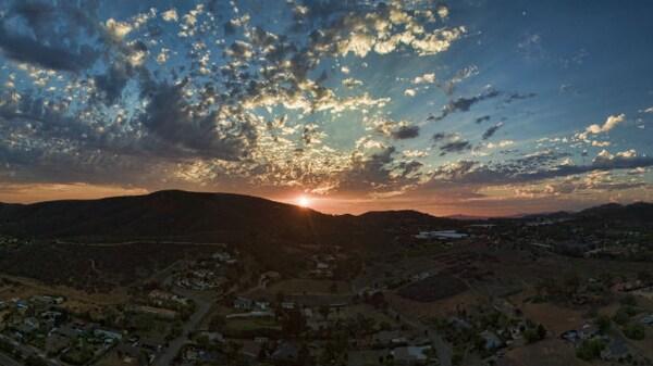 Panorámica aérea San Marcos, California