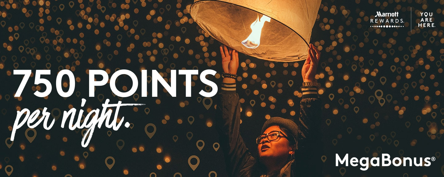 Register to earn 750 bonus points per night with MegaBonus®.
