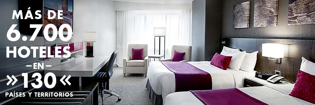 Más de 6.700 hoteles en 130 países y territorios.