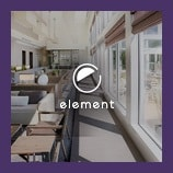 Contemporary hotel interior, opens the elements brand page