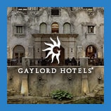 Building façade within hotel atrium, opens the Gaylord Hotels brand page