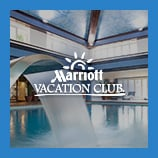 Sleek water feature of a chic indoor pools, opens the Marriott Vacation Club brand page