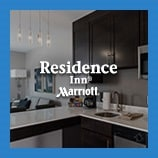 Open kitchen and living area, opens Residence Inn Marriott page