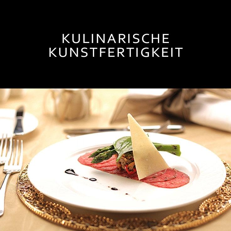 Schön angerichtete Charcuterie-Platte mit Käse,Wurst, Spargel/Link zum JW Marriott® Hotel Ankara