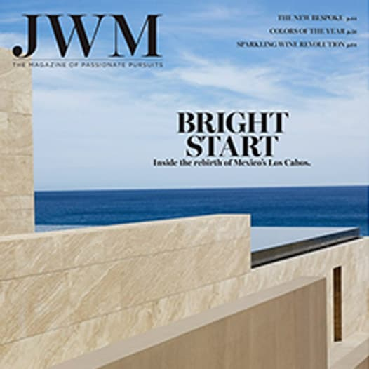JWM Magazine cover with ocean view