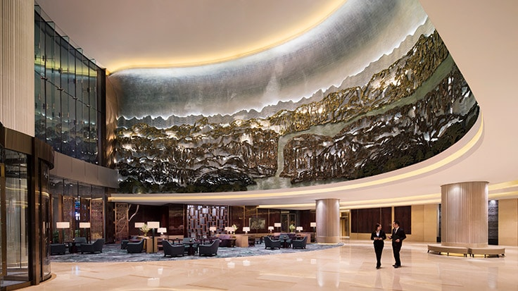 Lobby des JW Marriott Chongqing/Link zur Website des Hotels