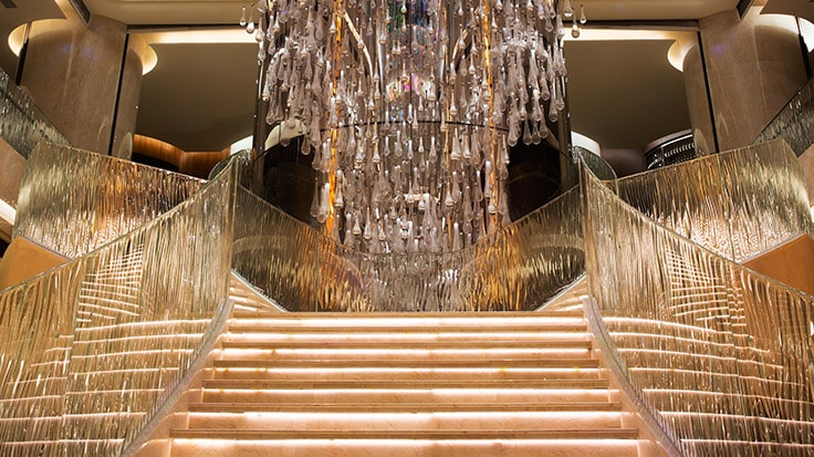 Image of stairs and chandelier linked to JW Marriott Hotel Macau