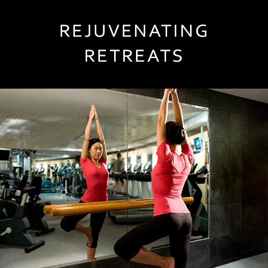 image of woman exercising link to JW Marriott Hong Kong spa page