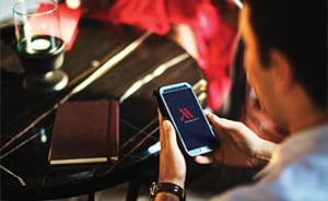 Mobile check-in at Marriott Hotels
