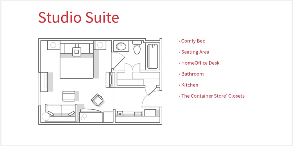 Studio suite floor plan