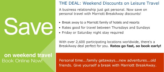 Weekend Discounts on Leisure Travel