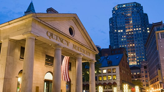 Quincy Market at night