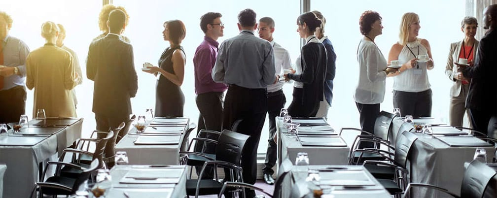 Business people networking in meeting room