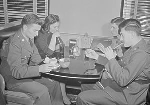 Soldiers and their dates