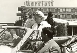 Bill Marriott provides personalized directions to guests.