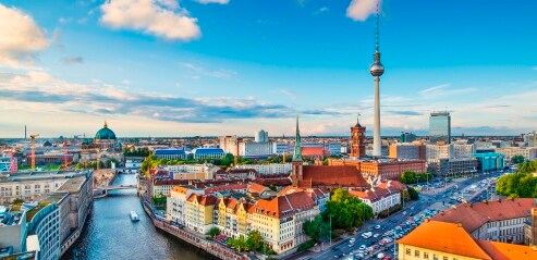 Panoramic view of Berlin and the Television Tower