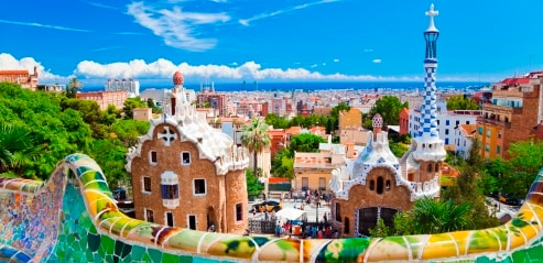 Panoramic view of Barcelona from Park Güell