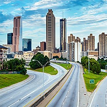 Atlanta downtown skyline. Link to Atlanta rates