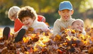 fall kidsleaves