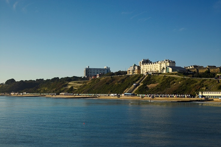 Across sea view of Bournemouth clifftop | Link to South Coast offer