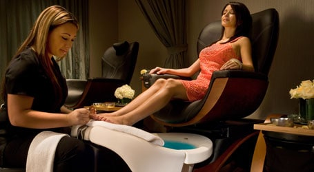Woman getting pedicure - Seasonal Spa treatments at Relache Spa at Gaylord Opryland