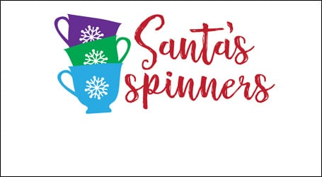 Santa's Spinners logo - link to event details