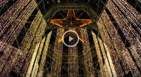 Christmas at Gaylord Opryland Atrium lights