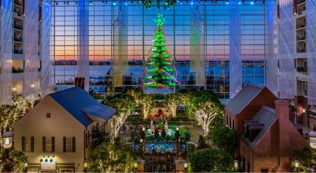 Christmas Tree in Gaylord National's Atrium