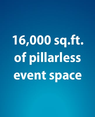 Image of Text that says 16,000 sq. feet of event space