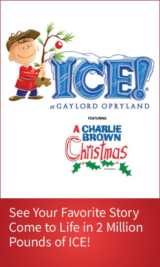 Link to Ice! featuring A Charlie Brown Christmas page