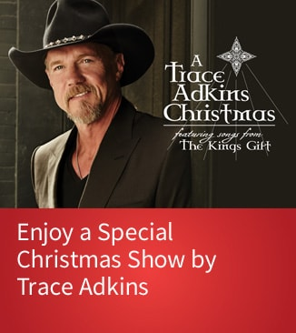 Trade Akins in Cowboy Hat - A Trace Adkins Christmas logo - purchase tickets
