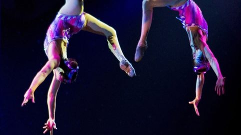 Aerialists perform during Cirque Dreams Holidaze at Gaylord Opryland's A Country Christmas