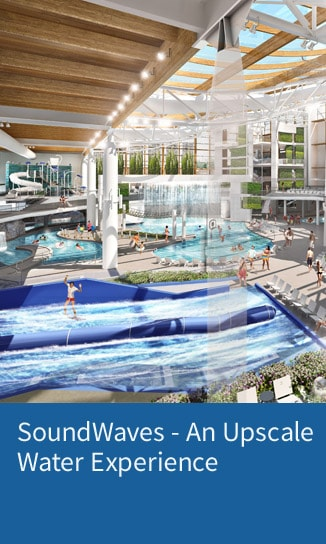 Waterslides, flowrider, lazy river at SoundWaves at Gaylord Opryland - Learn more