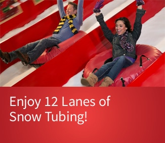 Purchase Tickets and enjoy 12 lanes of Snow Tubing