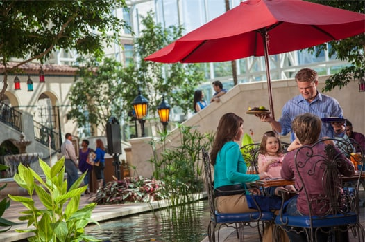 Family dining at Riverwalk Cantina at Gaylord Texan