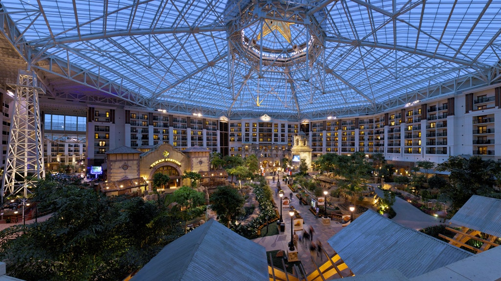 Gaylord Texan Atrium with acres of gardens and winding waterways