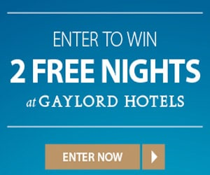 Gaylord Hotels - Marriott Reward Swepstakes - link to entry form