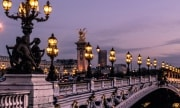 Paris by night ? Pont Alexandre III and Grand Palais