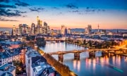 Skyline view of Frankfurt am Main, Germany