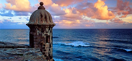 Vista del Castillo san felipe del morro