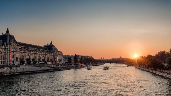 Paris – Coucher de soleil depuis le Musée d'Orsay