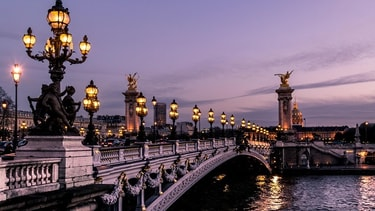 Paris by night – Pont Alexandre III and Grand Palais