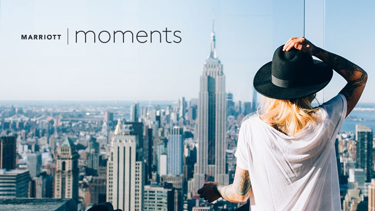 Earn points with Marriott Moments.