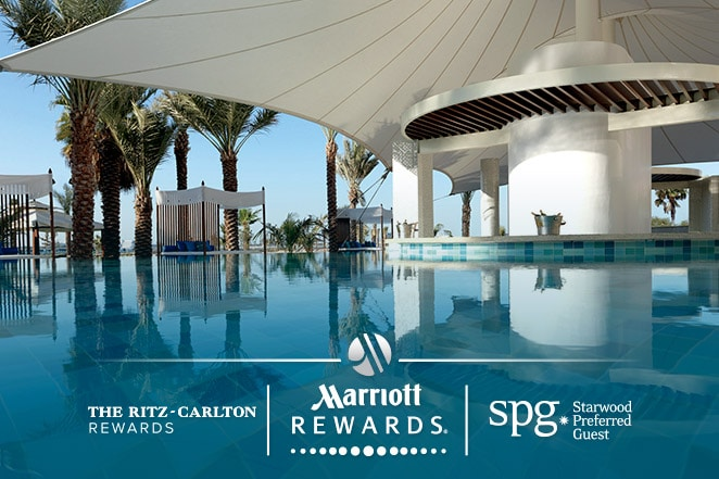Luxurious resort where Ritz-Carlton Rewards, Marriott Rewards and SPG members can use points